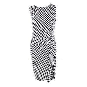 Michael Kors B&W Checkered Sleeveless Dress